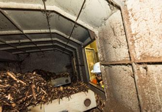 Vue intérieure de la chaufferie