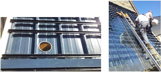 Construction de la toiture solaire
