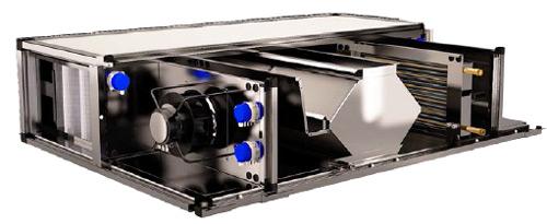 Eclaté récupérateur de chaleur RPF