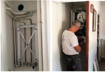 raccordements hydraulique gaz électrique