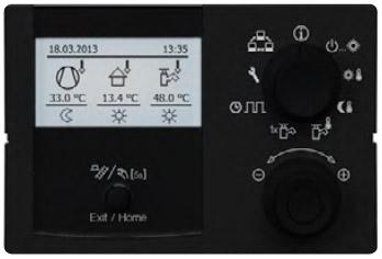 régulation intelligente avec affichage sur écran LCD