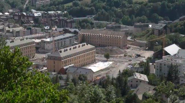 site d'anciennes casernes de la ville de  Briançon