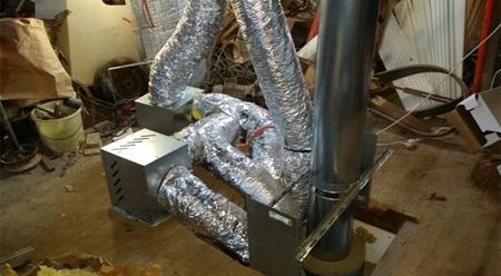 Vue d'ensemble de l'installation des ventilateurs