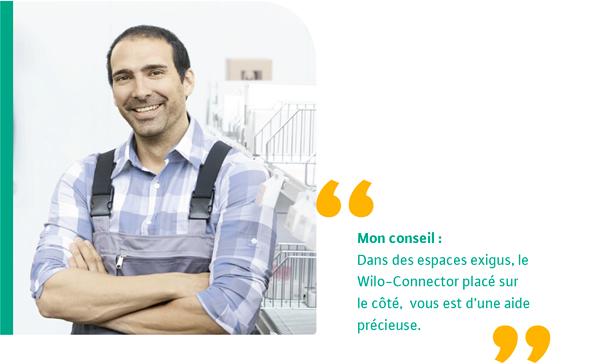 Wilo-connector circulateurs espaces