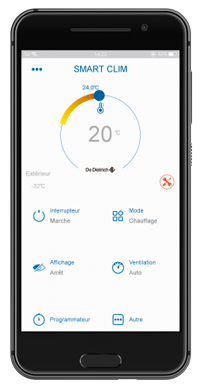 APP SMART CLIM pac climatiseur
