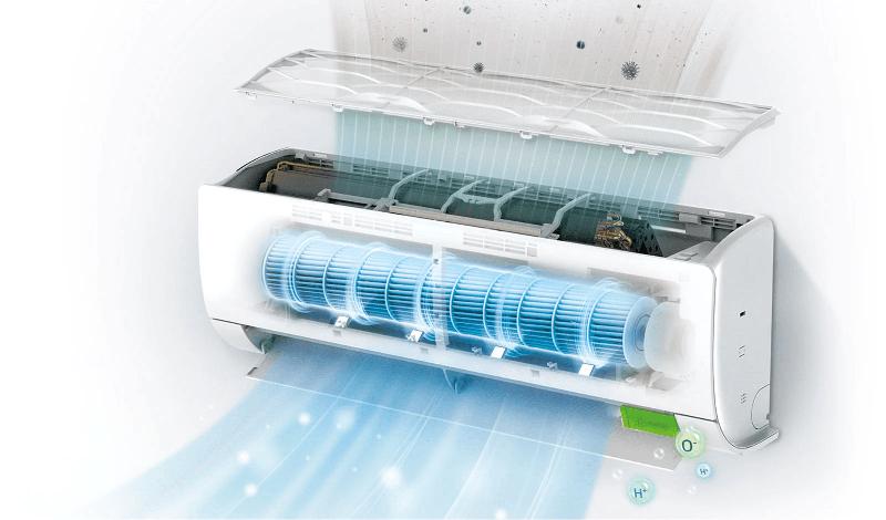 filtre air particules deluxe uvnano LG