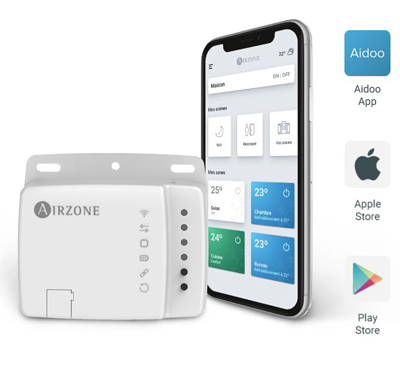 Wifi Aidoo connecté Airzone application