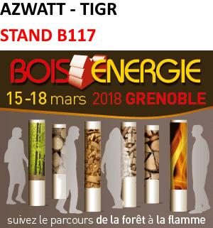 AZWATT au salon Bois Energie de Grenoble