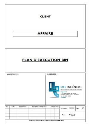 Plan d'exécution