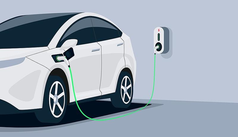 véhicule électrique stationnement charge