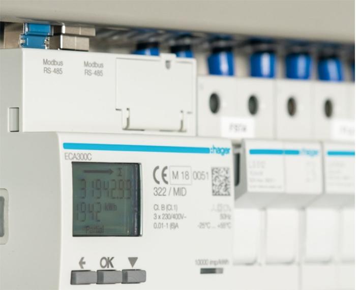 comptage électrique Hager consommation