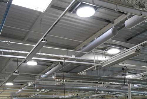 Aspect intérieur du diffuseur en sous-face toiture