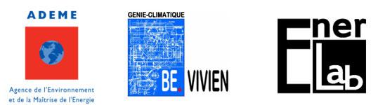 Logos ADEME, BE VIVIEN et ENERLAB