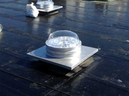 Pose des solarspot et remontée du pare-vapeur