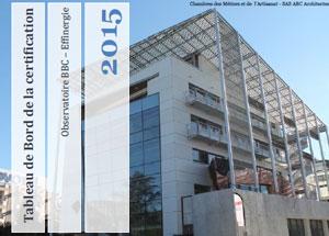 Tableau des certifications Effinergie 3ème trim. 2015