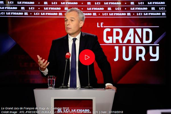 François de Rugy, invité du Grand Jury d'RTL