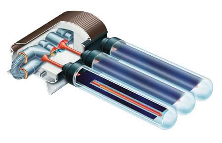 Capteur solaire thermique tubes sous vide for Capteur solaire sous vide