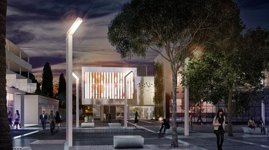 Reconstruction de la 1ère médiathèque BEPOS de France, Aimé Césaire
