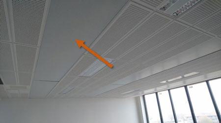 Plafonds rayonnants eau chaude de type Carboline marque Zehnder