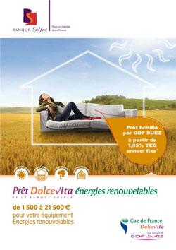 pret energies renouvelables banque solfea