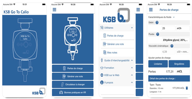Application KSB GoTo Calio
