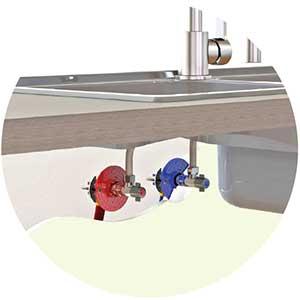 raccord robinetterie évier lavabo