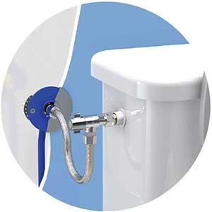 raccord robinetterie wc