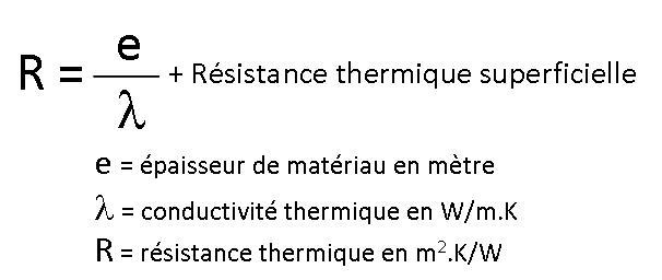 Conductivité thermique formule