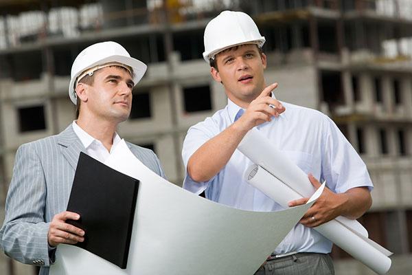 Conducteur de travaux chantier équipe