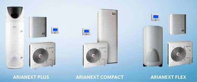 gamme de solutions de pompes à chaleur à hautes performances énergétiques ARIANEXT