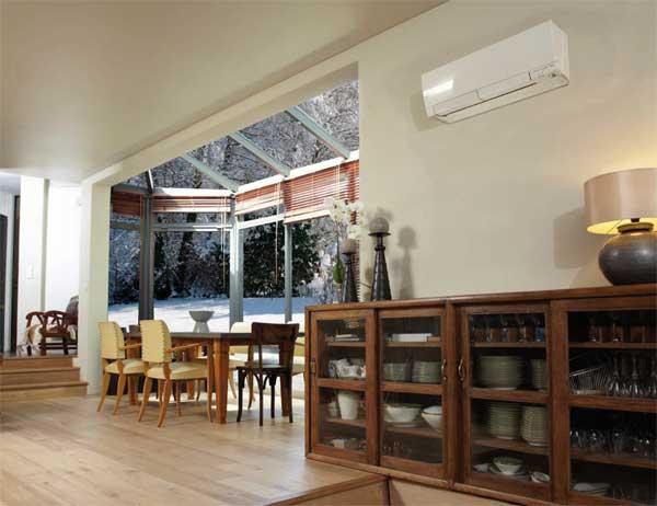 pompe chaleur hyper heating et mural msz fh scop de 4 9. Black Bedroom Furniture Sets. Home Design Ideas