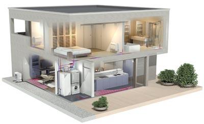 Villa avec Altherma bi-bloc