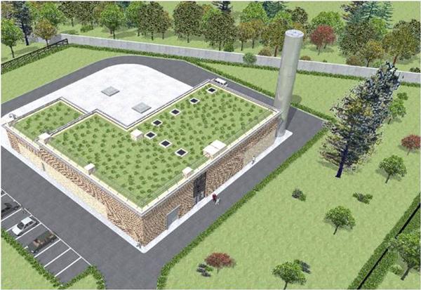 Vue architecturale de la future centrale