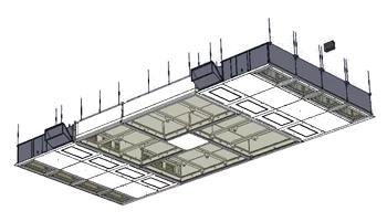 Plafond ventilo-diffusant