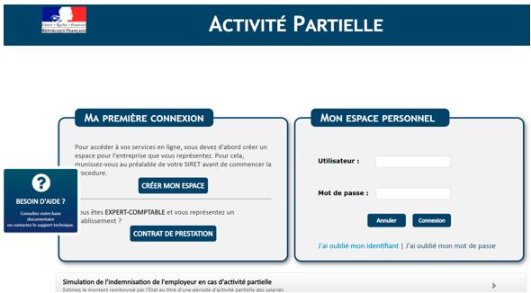 site gouvernement activité partielle