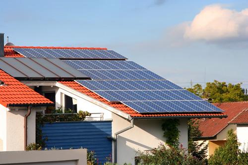 Bâtiment à énergie positive avec production d'énergie