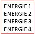 Quatre niveaux de performance énergétique