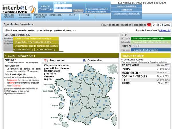 Page d'accueil Interbat
