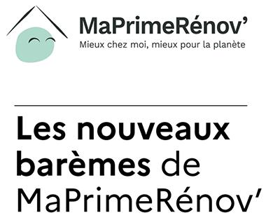 MaPrimRénov' les nouveaux barèmes