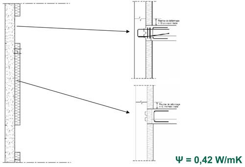 Mur béton – Plancher béton + SNAAM ISODAL