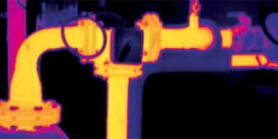 localiser des fuites avec caméra thermique