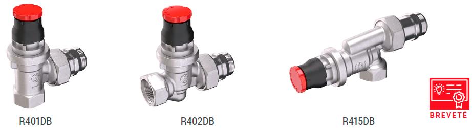 robinets série DB brevetés