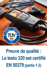 testo 320 certifie