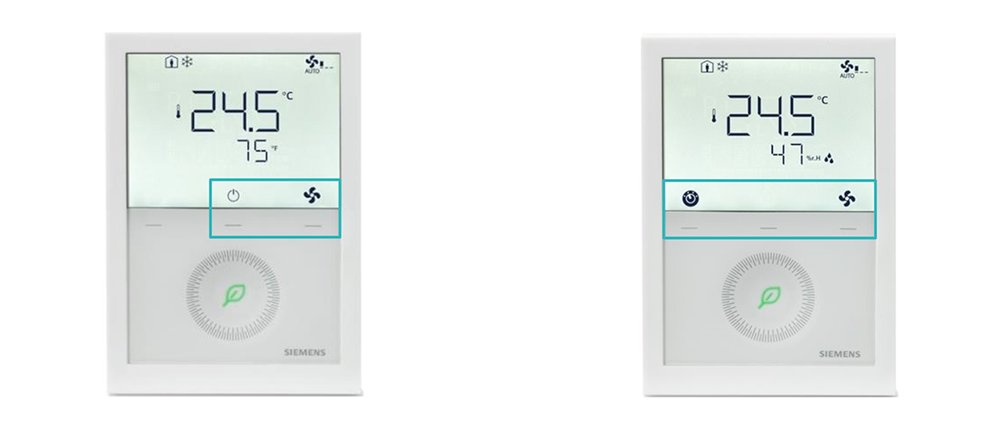 Siemens RDG200 écran utilisation