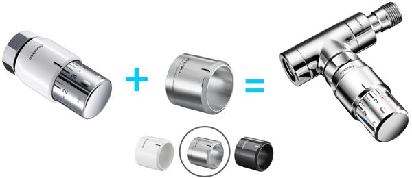 Différents modèles de thermostat uniSH d'Oventrop