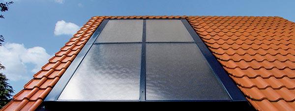 Energie solaire avec capteurs en toiture