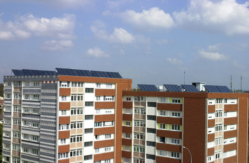 Panneaux solaire sur immeuble