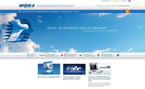 Nouveau site web Anjos Ventilation