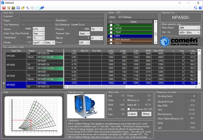 logiciel Aeolus 4 Comefri