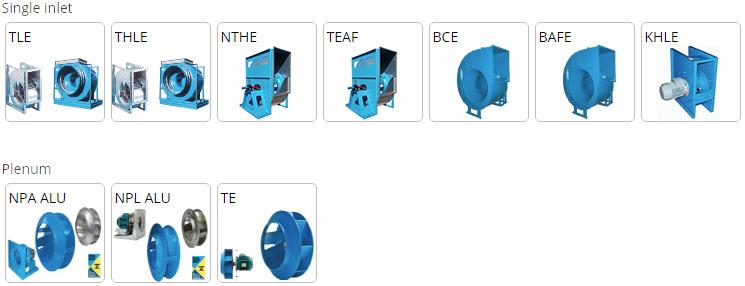 gamme de ventilateurs Comefri